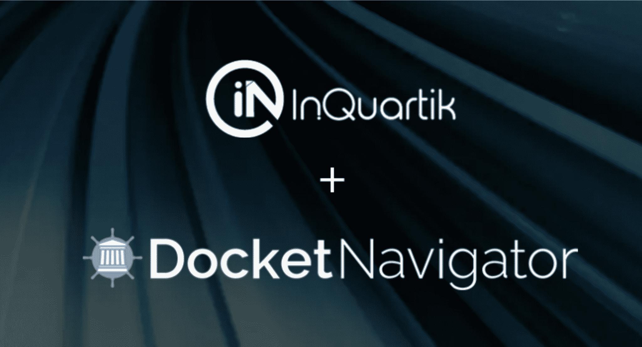 InQuartikの知財ソフトウェアとDocket Navigatorが提携し、プラットフォーム上で特許分析機能の提供を開始
